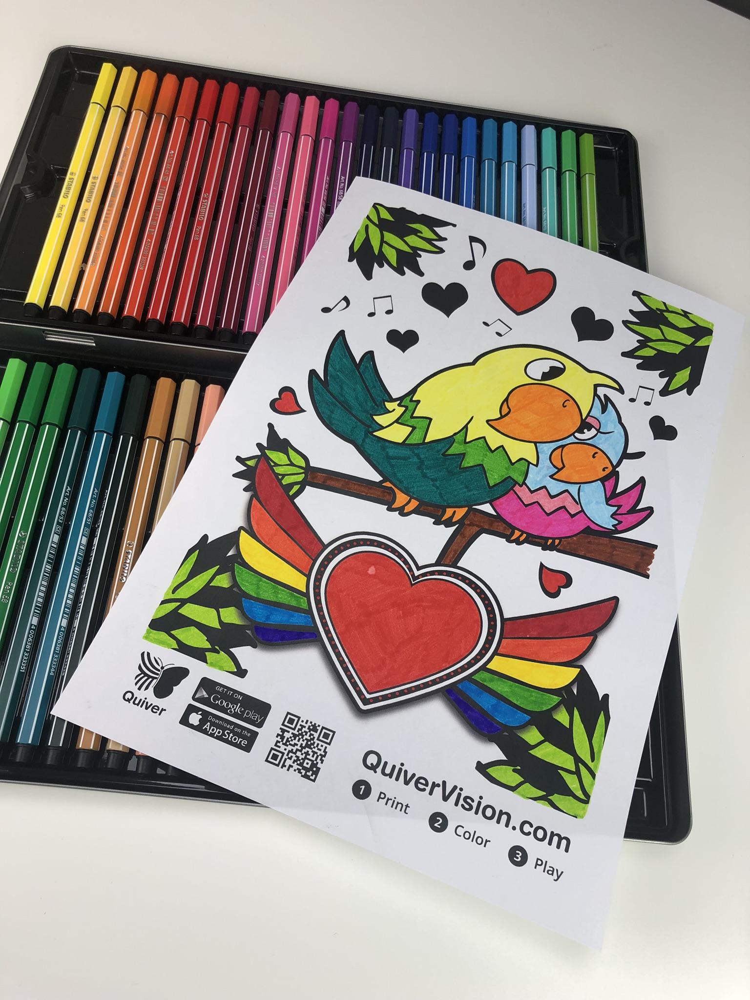 Quiver vision valentijn kleurplaat Meester Sander