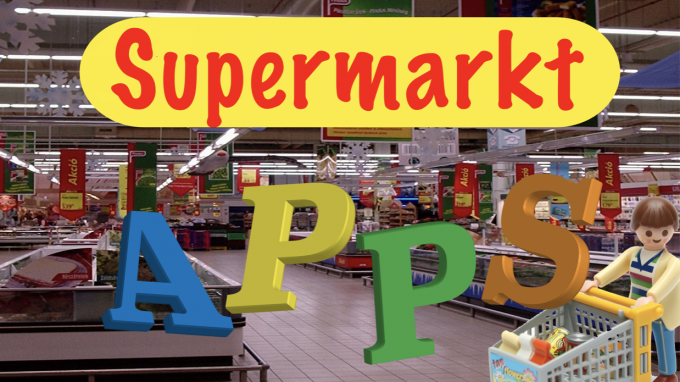 Apps thema supermarkt winkel